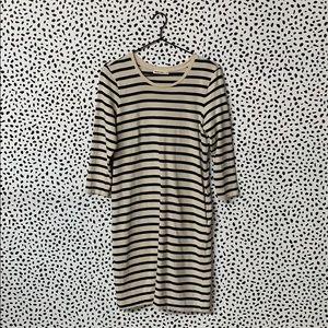 Marine Layer Striped Shirt Dress W/ Pockets